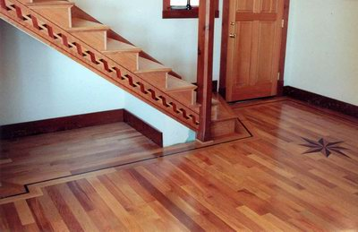 Tan Oak Floor and trim